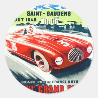 1949 Franzosen Grandprix, der Plakat läuft Runder Aufkleber