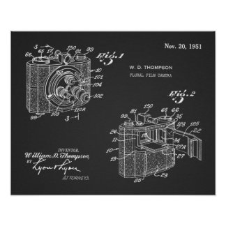 1951 Plural-Kamera-Patent-Kunst, die Druck Poster