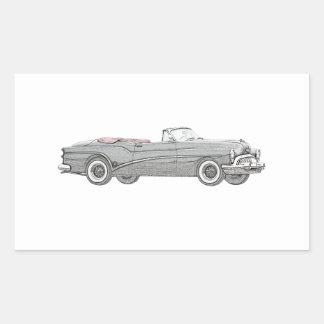1953 konvertierbares Coupé Buick Skylark - Rechteckiger Aufkleber