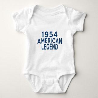 1954 Amerikaner-Legenden-Geburtstags-Entwürfe Baby Strampler