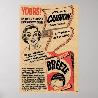 1955 Vintages Waschpulver Anzeige ausgedehntes Poster