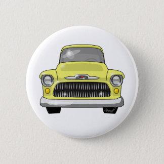 1957 gelber Chevy Lieferwagen Runder Button 5,1 Cm