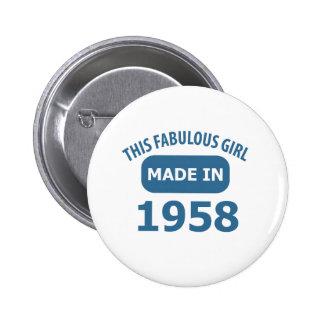 1958-jährige fabelhafte Entwürfe Runder Button 5,1 Cm