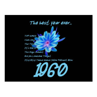 1960 OLDIEN Wiedersehen-Geburtstags-Jahrestag Postkarte