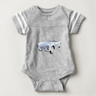 1961 Weiß Korvette Baby Strampler