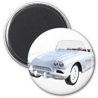 1961 Weiß Korvette Runder Magnet 5,1 Cm