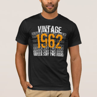 1962 Vintag - Geburtstags-Schwarzes und Gold T-Shirt