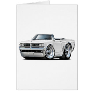 1964 GTO weißes Kabriolett Karte