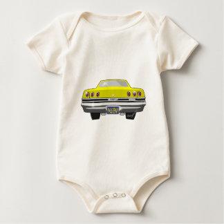 1965 gelber Chevy Durchlauf-Neid Baby Strampler