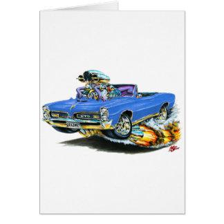 1966-67 GTO blaues Kabriolett Karte