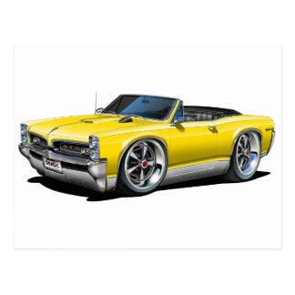 1966/67 GTO gelbes Kabriolett Postkarte