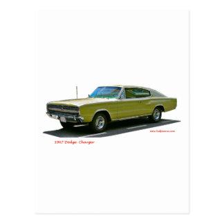 1967_Dodge_Charger Postkarte