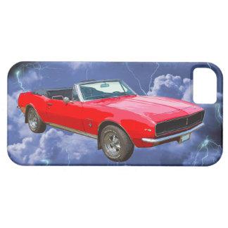 1967 rote Camaro Muskel-Auto-und Blitz-Bolzen iPhone 5 Hülle