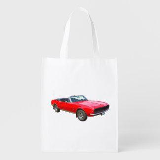 1967 rotes konvertierbares Camaro Muskel-Auto Wiederverwendbare Einkaufstasche