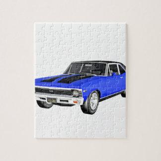 1968 Blau-Muskel-Auto Puzzle