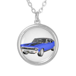 1968 Blau-Muskel-Auto Versilberte Kette