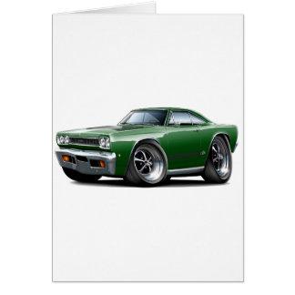 1968 Dunkelheit Plymouths GTX - Grün - schwarzes Karte