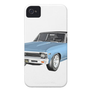 1968 hellblaue Muskel-Autos iPhone 4 Hüllen