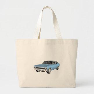 1968 hellblaue Muskel-Autos Jumbo Stoffbeutel