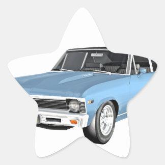 1968 hellblaue Muskel-Autos Stern-Aufkleber