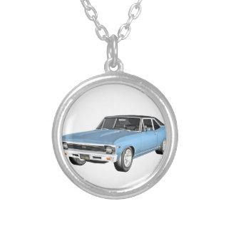 1968 hellblaue Muskel-Autos Versilberte Kette