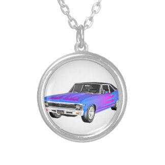 1968 morgens-Muskel-Auto in Lila und in Blauem Versilberte Kette