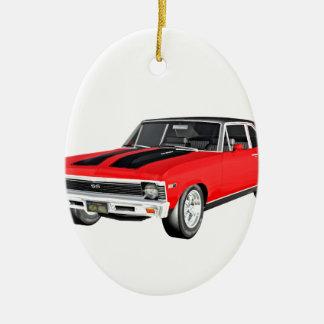 1968 Rot-Muskel-Auto Keramik Ornament