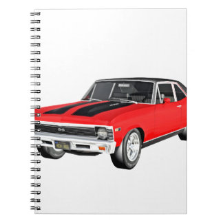 1968 Rot-Muskel-Auto Spiral Notizblock