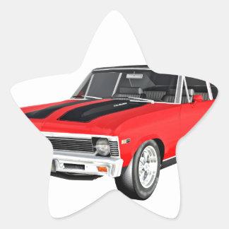 1968 Rot-Muskel-Auto Stern-Aufkleber
