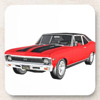 1968 Rot-Muskel-Auto Untersetzer