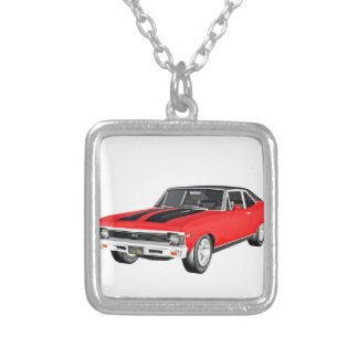 1968 Rot-Muskel-Auto Versilberte Kette