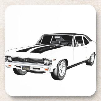 1968 Weiß-Muskel-Auto Getränkeuntersetzer