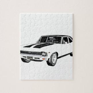 1968 Weiß-Muskel-Auto Puzzle