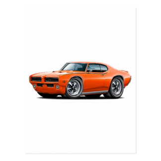 1969 GTO Richter-orange verstecktes Postkarte