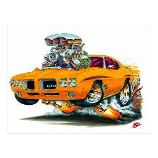 1970 GTO Richter-Orangen-Auto Postkarte