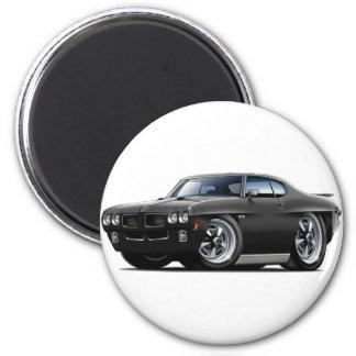 1970 GTO schwarzes Auto Runder Magnet 5,1 Cm