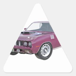 1971 lila Muskel-Auto Dreieckiger Aufkleber