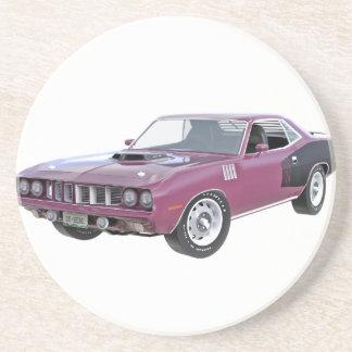 1971 lila Muskel-Auto Getränkeuntersetzer