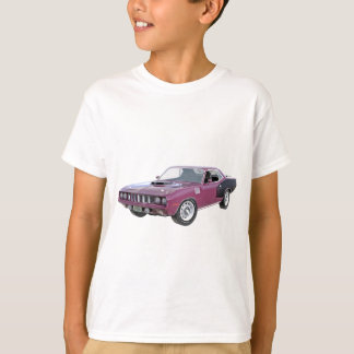 1971 lila Muskel-Auto T-Shirt