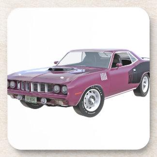 1971 lila Muskel-Auto Untersetzer