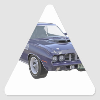 1971 Muskel-Auto in Lila Dreieckiger Aufkleber