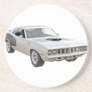 1971 Weiß-Muskel-Auto Untersetzer
