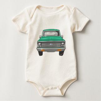 1974 grüner Chevy LKW Baby Strampler