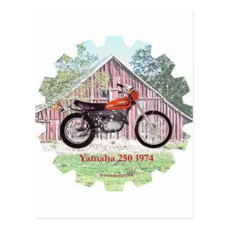 1974 Klassiker-Motorrad Yamaha 250 Postkarte