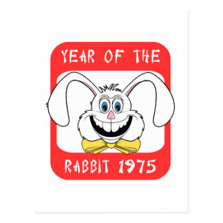 1975-jährig vom Kaninchen-Geschenk Postkarte