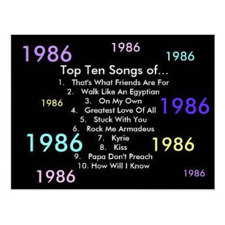 1986 Lieder Postkarte