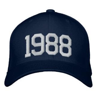 1988-jährig bestickte baseballcaps