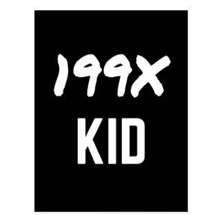 199X neunzig Illustrations-Entwurf der Postkarte