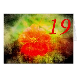 19. Geburtstag Karte