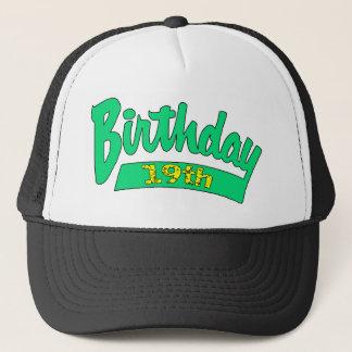 19. Geburtstags-Hut-Geschenk Truckerkappe